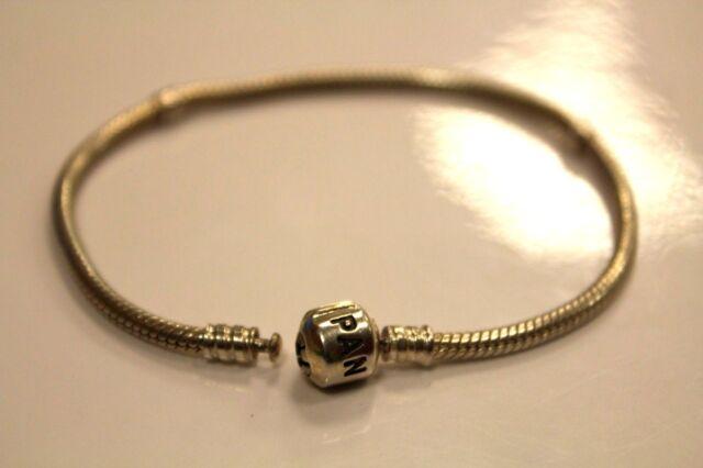 """Authentic Pandora Barrel Clasp Sterling Silver Bracelet 8.25"""" long"""