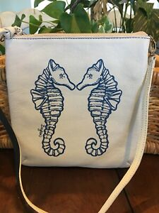 Brighton-Nwt-Sea-Horse-Leather-Crossbody-Purse