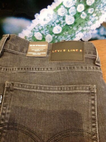 L30 Mid W32 Line Grey Straight Jean Levi's Slim 8 Destruction Hommes Rv6qv