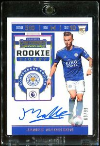 2019-20-Chronicles-JAMES-MADDISON-RC-Rookie-Ticket-Auto-Contenders-60-99