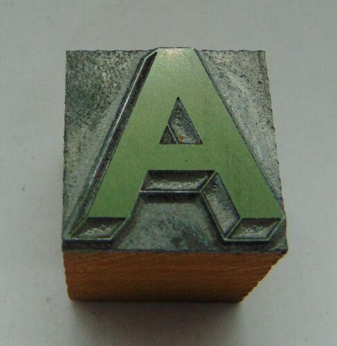 Printing Letterpress Printers Block Capital Letter A