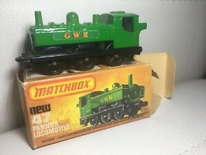 Matchbox-Eisenbahn-Railway-Zug-Nr-47-m-OVP-Pannier-Locomotive-UNBESPIELT-Train