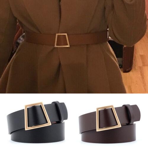 Cintura donna con fibbia in pelle con fibbia Cintura di lusso con cinturino in