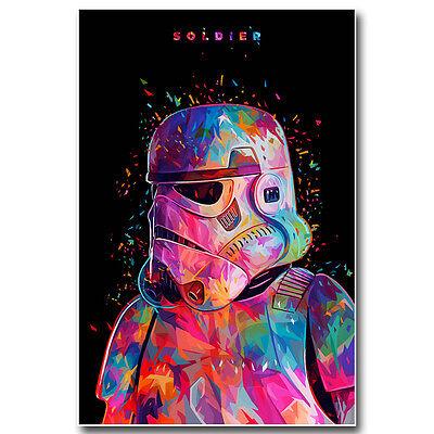 Star Wars 7 Force Awakens Movie Silk Poster Print Stormtrooper ST147