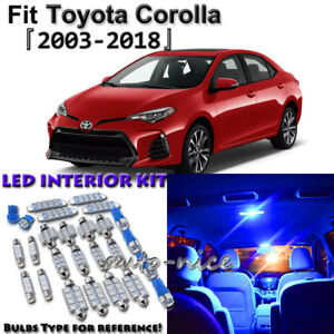 Image Is Loading 7x Blue Interior Led Lights Package Kit For