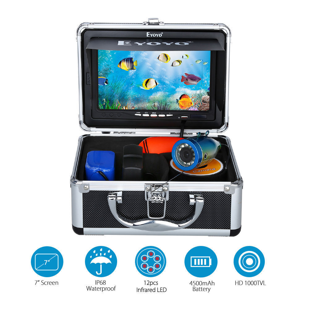 Eyoyo Infrared HD 1000TVL Camera 15m Fish Finder Ice Fishing 7  color Display