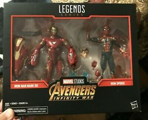 Marvel-Legends-6-034-Iron-Spider-Man-and-Iron-Man-Mark-50-Exclusive-Sealed-MCU