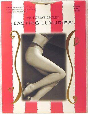 Victoria Secret sheer to waist Pantyhose Lasting Luxuries JET BLACK SMALL V34