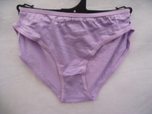 BNWOT Womens Sz 16 Pretty Pastel Lilac Soft Stretch 100/% Cotton Bikini Briefs
