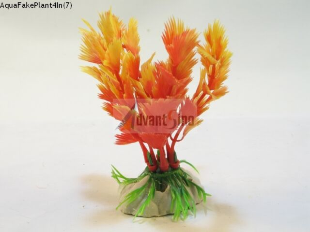 "(S07) 4"" Inch Realistic Artificial Plants for Aquarium/Fish Tank (SHIP FROM USA)"