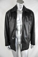 DANIER Mens Black LEATHER JACKET/Coat+Removable Insulated Zip-In VEST 40-42/M