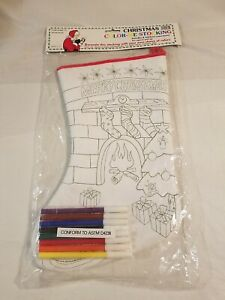CHRISTMAS-COLOR-ME-STOCKING-INCLUDES-8-MARKERS-NON-TOXIC-MERRY-CHRISTMAS