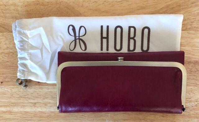Nwt Women's Hobo International Leather Wallet, Rachel, Ruby