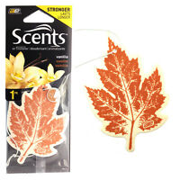 Auto Expressions VANILLA Leaf Hanging 2D Air Freshener Scent Car Home STRONGER
