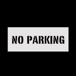 Details About 8 Letters No Parking Reusable Stencil For Parking Lot Spray Painting 2mm Pvc