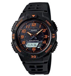 Casio-Classic-Watch-AQS800W-1B2-Tough-Solar-Anadigi-Black-Orange-COD-PayPal