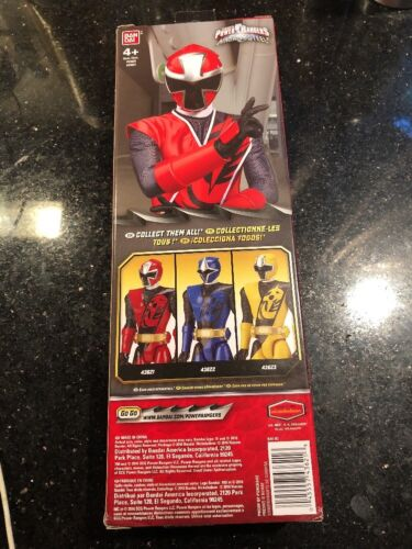 "Sabans Power Rangers Ninja Steel 12/"" Action Figure Red Ranger Ban Dai New"