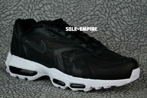 Nike Air Max 96 II XX 870166-001 Black White Leather 20th Anniversary Retro DS