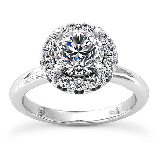 .80 Carat Round Cut H SI Solitaire Engagement Ring 14k White gold