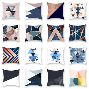 Am-New-Color-Block-Teardrop-Triangle-Geometric-Pillow-Case-Cushion-Cover-Sofa-D