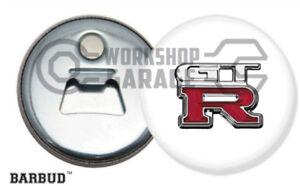NISSAN GTR R32 R33 R34 R35 R36 BADGE LOGO - Magnetic Bottle Opener - BARBUD