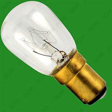 1x 15W Pygmy Appliance Fridge Sewing Machine Hobbyist B15 SBC Light Bulb Lamp