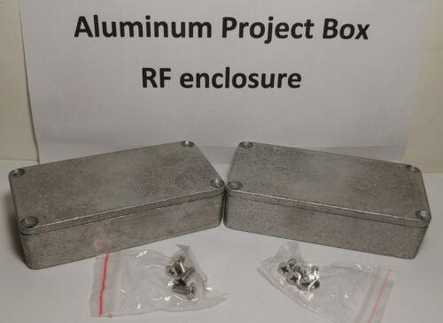 """Hammond 1590G type Diecast Aluminum Enclosure 3.9/"""" x 2.0/"""" x 0.9/"""" X4 FOUR box"""