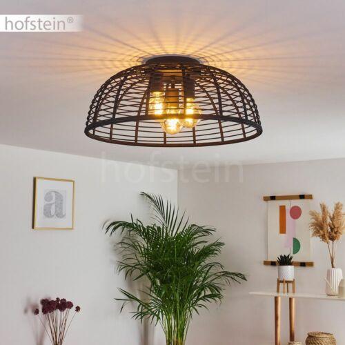 Rattan Wohn Schlaf Zimmer Lampen Retro Decken Leuchten Flur Beleuchtung Schwarz