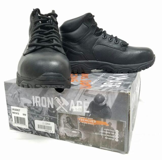 4f2ecb47992 Iron Age IA5007 Trencher Mens Black 6