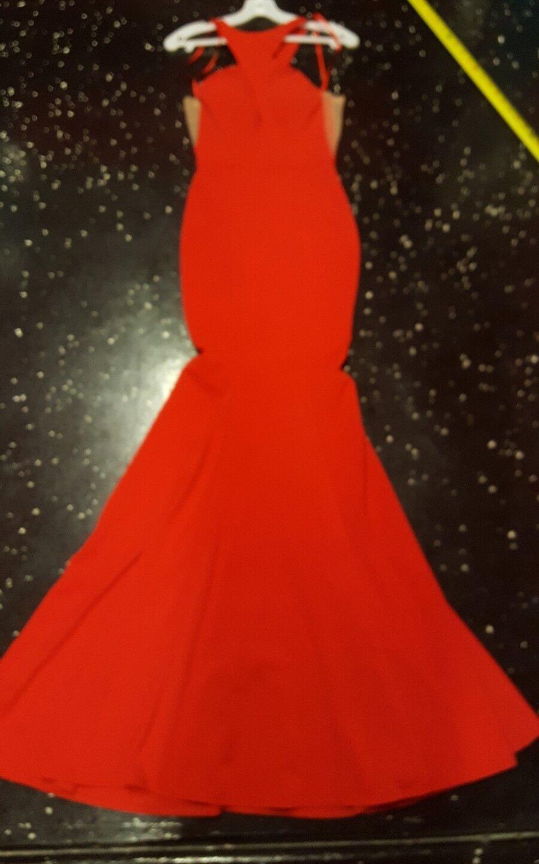CINDERALLA ROSE RED DRESS ELEGANT PROM DRESS womans size XS