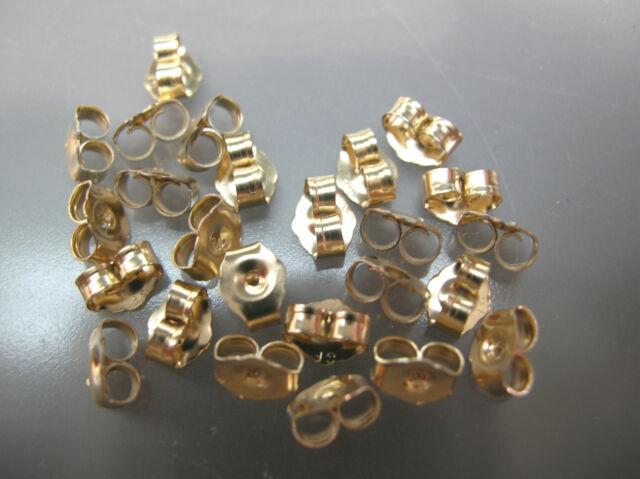 14k Gold Filled 7mm Heavy Premium Post Earring Back Clutches 4pcs  #6229-8
