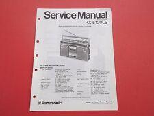 Panasonic rx-5120lx org. Service instrucciones manual
