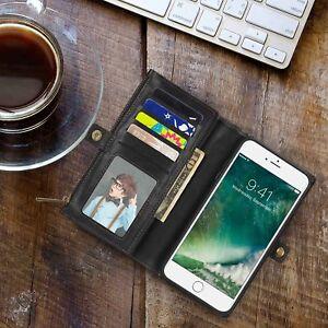 Black-Luxury-Leather-Shockproof-Magnetic-Folio-Flip-Wallet-Case-iPhone-7-8-Plus