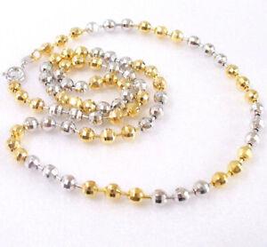 "Women 45cm 17.5/""  Thin Bar Small Chain Necklace Choker 18K Yellow Gold Plated UK"