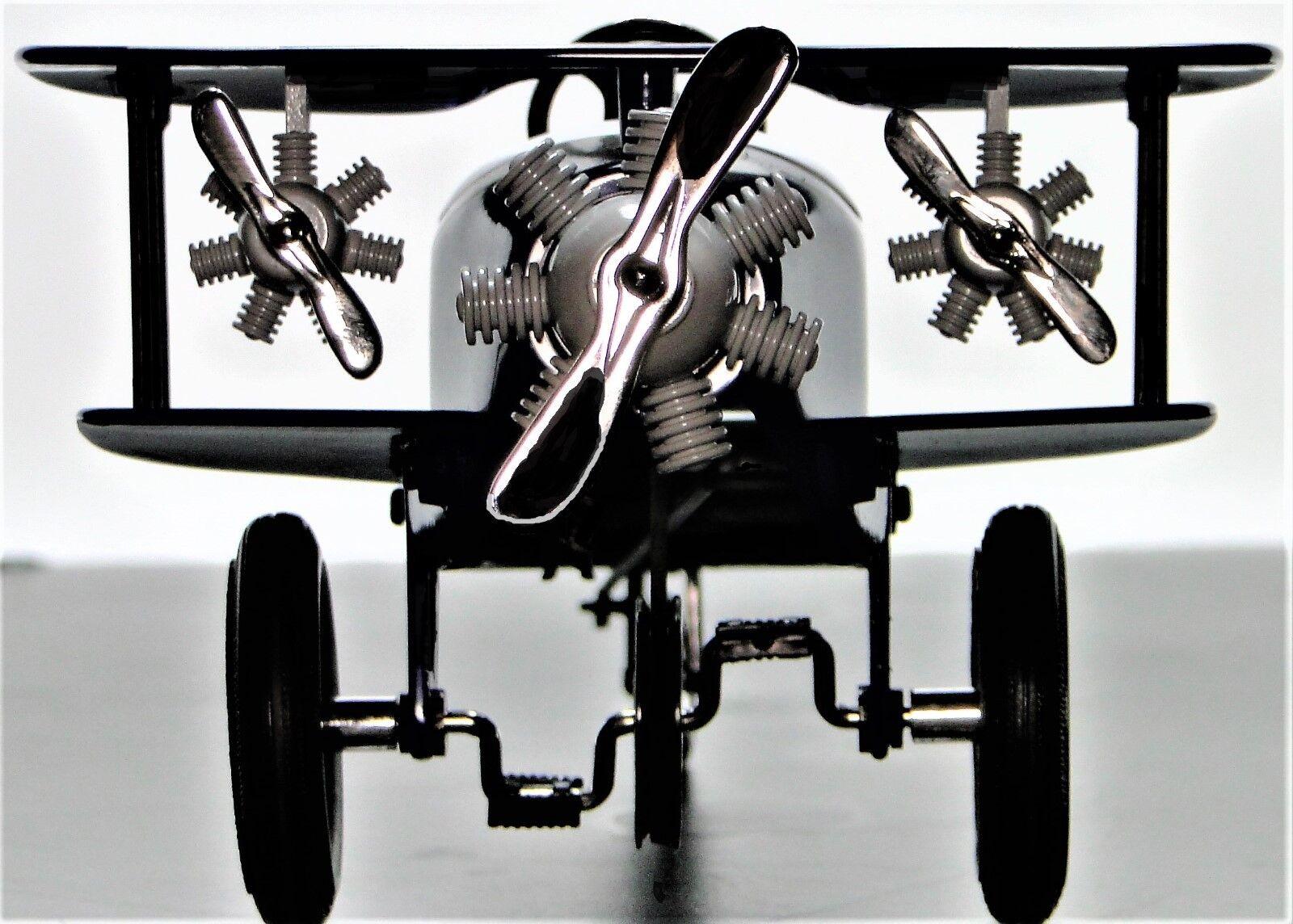 Plano de aire Auto A Pedal WW1 Racer coleccionista de Metal Vintage azul   leer la descripción completa