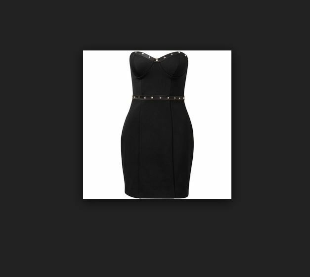 Forever New Ophelia Studded Bandage dress lined sz14 BNWT free post E7