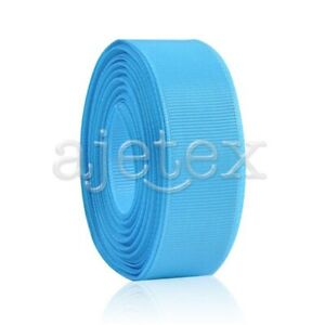 10-Meters-1-4-034-6mm-Grosgrain-Ribbon-Bows-Wedding-Craft-Decoration-Lake-Blue-OBS