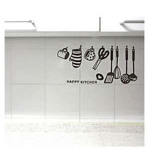 Kitchen Appliance Tools Removable Decal Art Wall Sticker