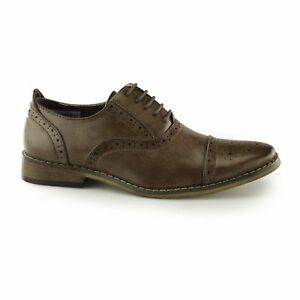 Goor HENRY Boys Lace Up Leather Lined Formal Smart Oxford Brogue Shoes Black