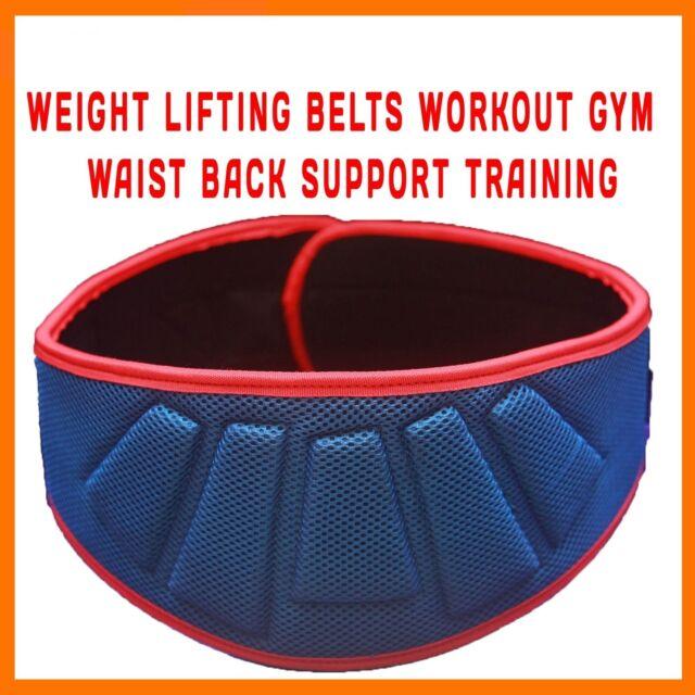 WEIGHT LIFTING BELT WORKOUT GYM BELT WAIST BACK SUPPORT WEIGHTLIFTING TRAIN L/XL
