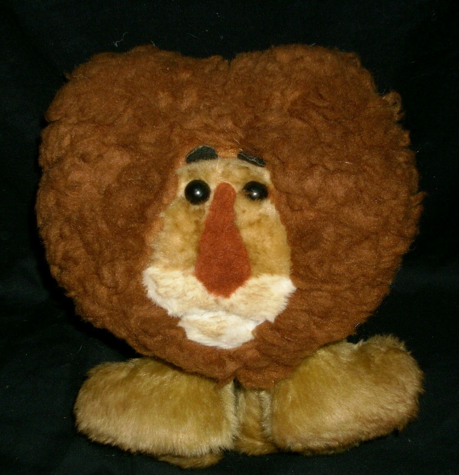 12  VINTAGE ANIMAL FAIR BROWN LION 5042 STUFFED ANIMAL PLUSH TOY ANTIQUE HENRY