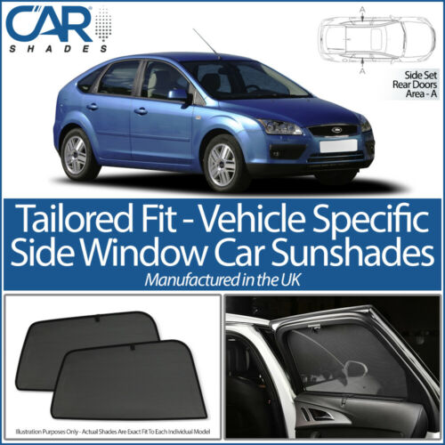 Ford Focus 5 door 2004-2011 CAR SHADES UK TAILORED UV SIDE WINDOW SUN BLINDS