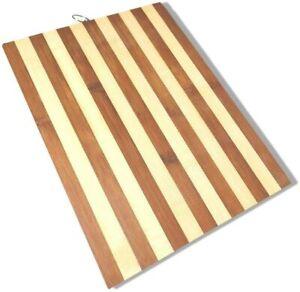 6 Taglieri da Cucina in Legno Naturale di bambù Salumi Formaggi Tagliere 32x22cm