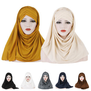 Ladies-Scarf-Hat-Head-Wrap-Islamic-Muslim-Hijab-Headscarf-Women-Scarves-Headwear