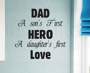 Wall Decal Sticker Quote Vinyl Art Letter Dad Father Son And