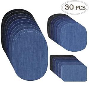 COCESA-30pcs-Iron-on-Denim-Fabric-Patches-Clothing-Jeans-Repair-Kit-3-Sizes