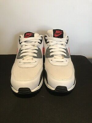 Nike Air Max 90 Essential Red Black White Shoes, Mens Us 8 Eur 41, (537384 112) | eBay