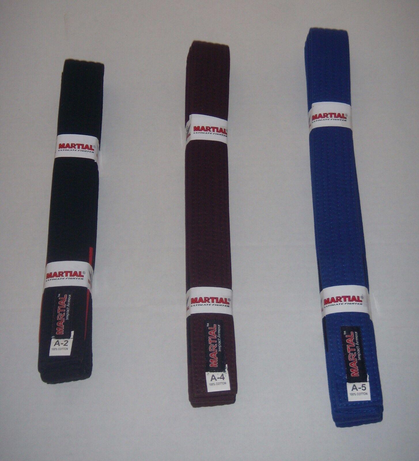 Martial Brazilian Jiu Jitsu Belts (Professional Quality) No Tax,FREE SHIPPING