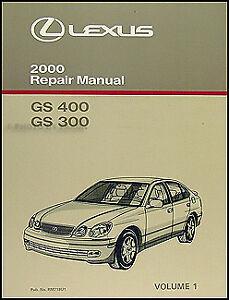 2000 lexus gs 300 400 repair manual volume 1 gs300 gs400 shop book new oem    ebay  ebay