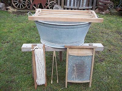 Waschset-6 Teile,Holzbock mit Wanne + Waschbett-Auflage+++++